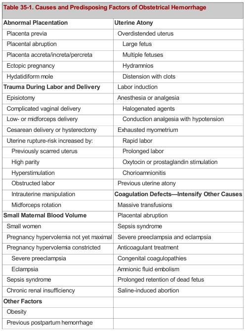 Penyebab dan Faktor Predisposisi Perdarahan Obstetrikal